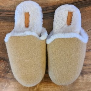 Vince Sheep Shearling & Wool & Cashmere Slippers